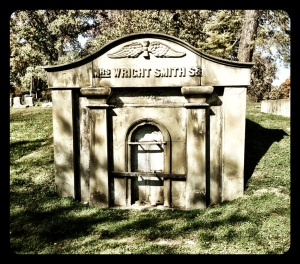 One of the few mausoleums.