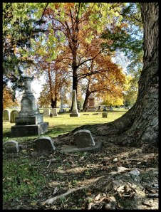 A beautiful fall day at the cemetery!
