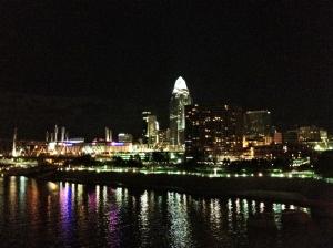 Cincinnati from the Purple People Bridge.