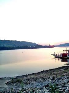 The Ohio River at Anderson Ferry, KY side.