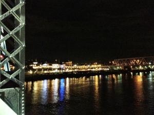 Newport KY from The Purple People Bridge.