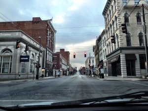 Early Saturday morning in downtown Covington.