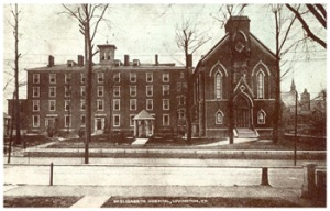 An early photo of the hospital.