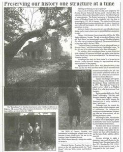 A newspaper article about the Chalfant House.