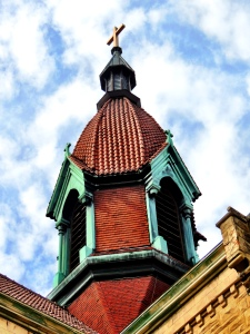 The steeple.