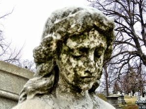 There was no shortage of beautiful stone faces at Vine Street Hill Cemetery!