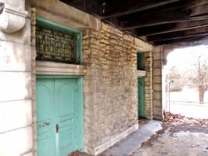 The rear door to the chapel.
